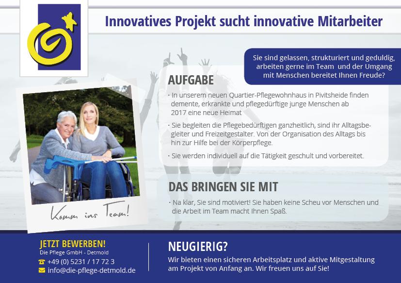 Innovatives Projekt sucht innovative Mitarbeiter