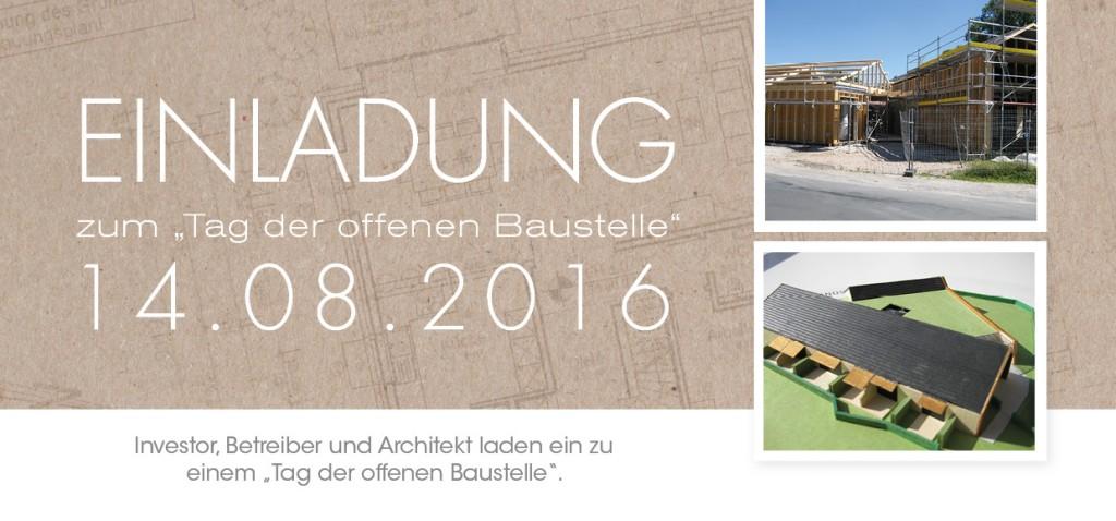 Einladung zum Tag der offenen Baustelle